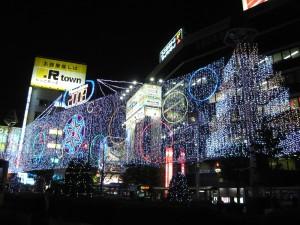 吉祥寺駅北口のイルミネーション