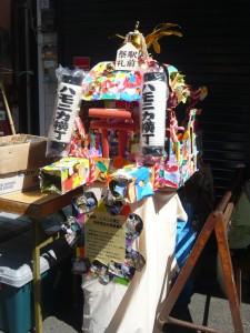 ハモニカ横町の可愛いお神輿