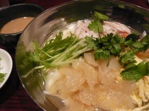 西安料理シーアン ヨドバシ吉祥寺店のさっぱり塩味スープの刀削麺ゴマだれ添え
