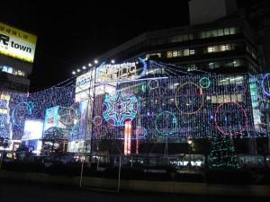 吉祥寺駅前のイルミネーション