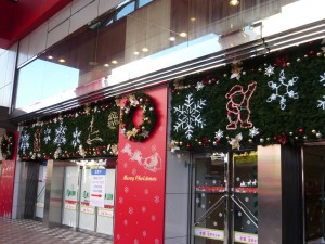 吉祥寺ロンロンのクリスマスディスプレイ