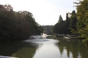 9月の井の頭公園・噴水