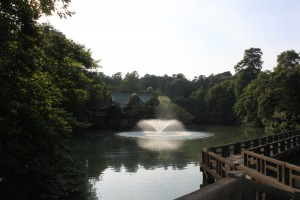 噴水と、井の頭弁財天