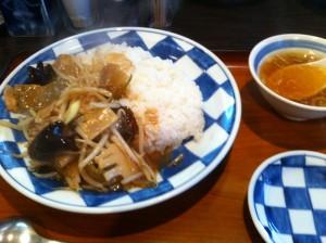 豚肉とザーサイの炒め餃子付き@一圓井の頭通り店