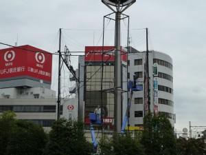 吉祥寺駅前のイルミネーション(準備中)