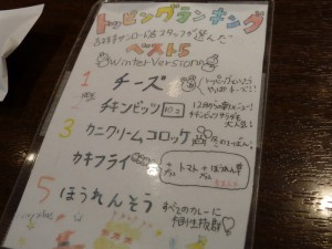 ココイチ吉祥寺サンロード店スタッフが選んだトッピング