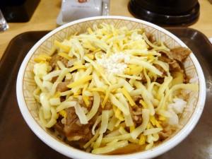3種のチーズ牛丼@すき家吉祥寺南店