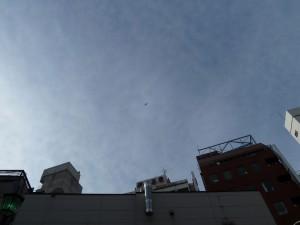 吉祥寺上空にヘリコプター