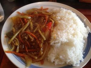 ひき肉の中華風カレー