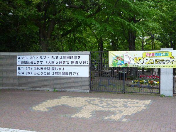 2017年4月と5月の井の頭公園予定